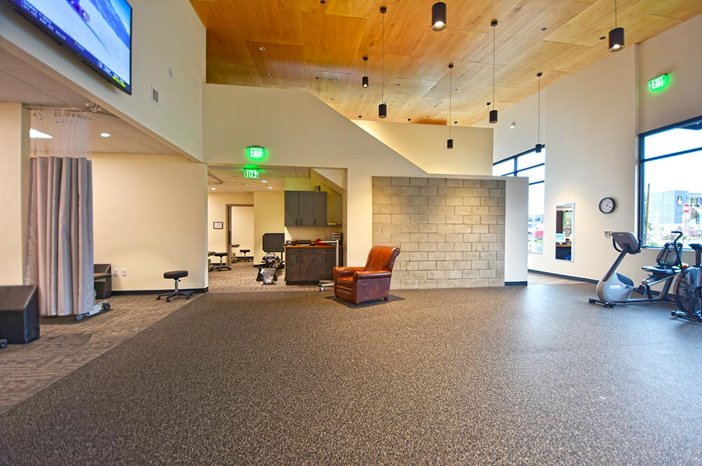 Kenmore physical therapy office new mezzanine after renovation
