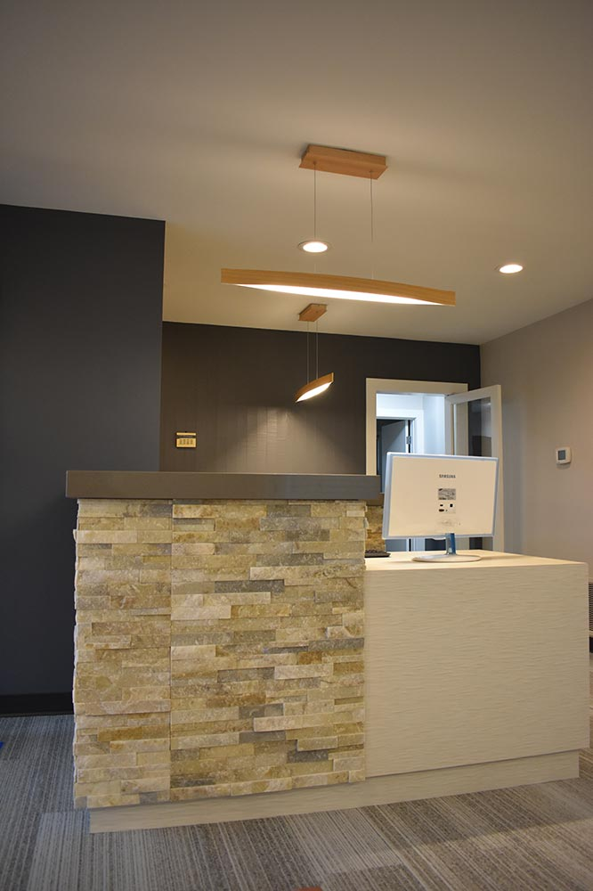 Langley dentistry office new front desk after tenant improvment