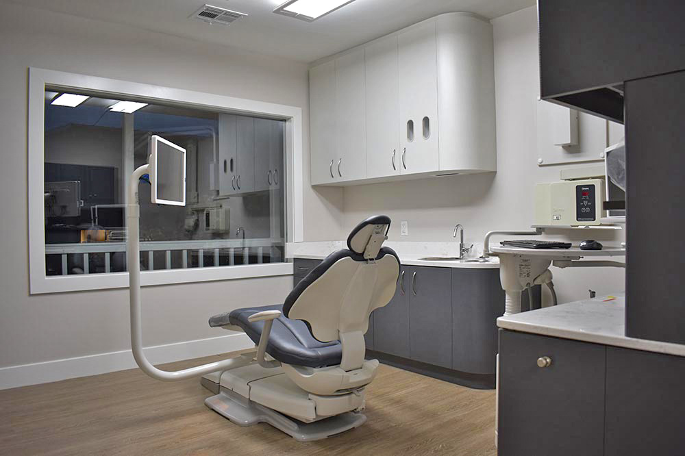 Dental ops after tenant improvement in saloon style historical structure