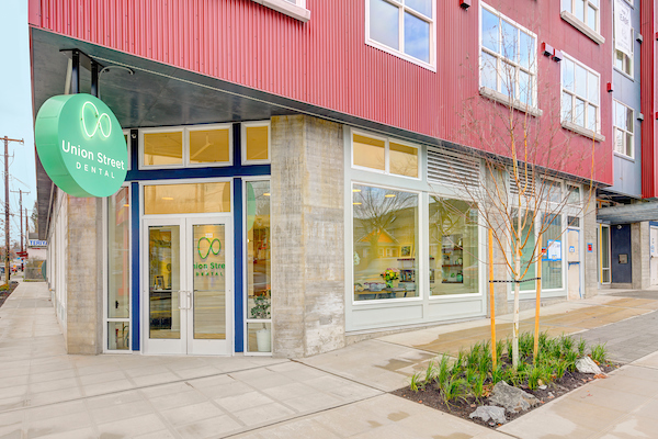 Exterior of renovated dental practice on Union Street in Seattle WA